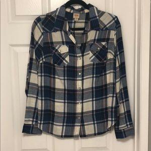 Mossimo Plaid Long Sleeve Shirt